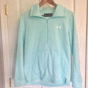Under Armour blue pocketed zip up sweatshirt EUC S